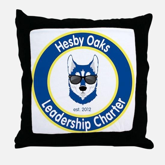 Informal Hesby Oaks Logo Throw Pillow