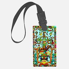 King Pakal Mayan ruler Luggage Tag