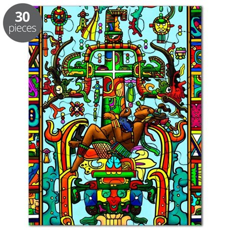 King Pakal Mayan ruler Puzzle