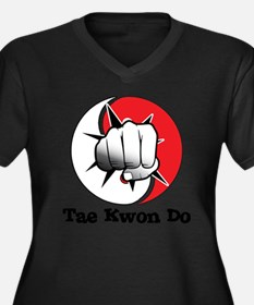 Tae Kwon Do Women's Plus Size Dark V-Neck T-Shirt