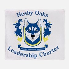 Hesby Oaks Formal Logo Throw Blanket