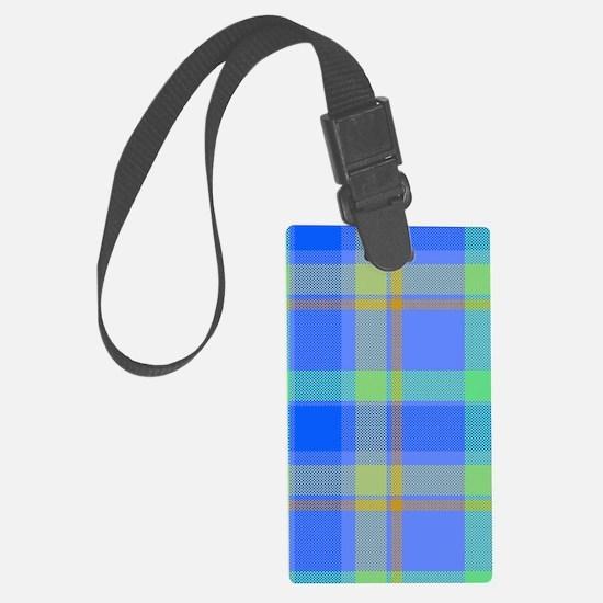 blue plaid Luggage Tag
