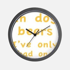 dogBeers1C Wall Clock