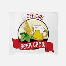 Beer Crew Throw Blanket
