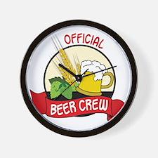 Beer Crew Wall Clock