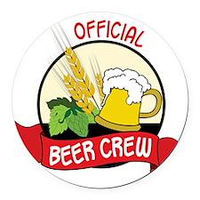 Beer Crew Round Car Magnet