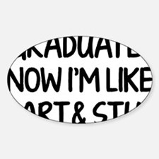 smartAndStuff1A Sticker (Oval)