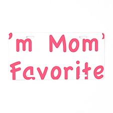 momsFavor1E Aluminum License Plate