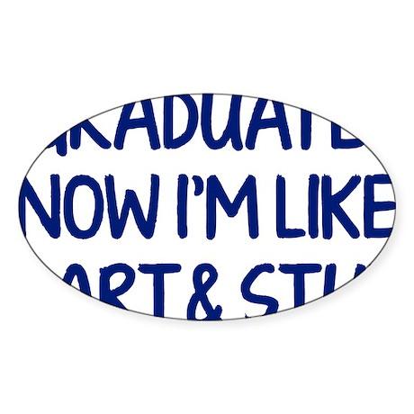 smartAndStuff1E Sticker (Oval)