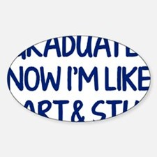 smartAndStuff1E Sticker (Oval)