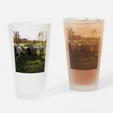 Grazing at Sunset Drinking Glass