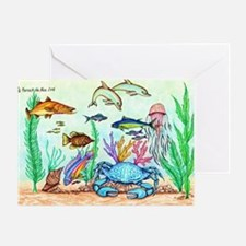 "The ""Beneath The Sea"", Original Draw Greeting Card"
