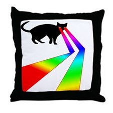 Kitty Cat with Laser eyes shirt Throw Pillow