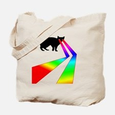 Kitty Cat with Laser eyes shirt Tote Bag