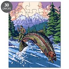 Mountain Trout Fisherman Puzzle