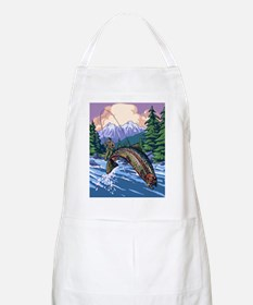 Mountain Trout Fisherman Apron