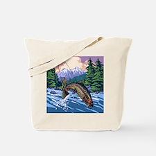Mountain Trout Fisherman Tote Bag