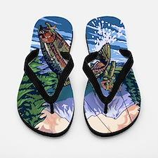 Mountain Trout Fisherman Flip Flops