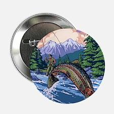 """Mountain Trout Fisherman 2.25"""" Button"""