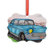57' Chevy Belair Original Drawing Ornament
