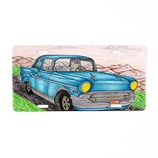 57' Chevy Belair Original D Aluminum License Plate