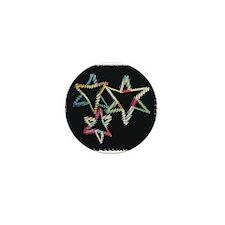Neon Star Mini Button