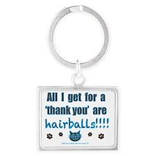 hairballs! Landscape Keychain
