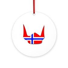 Norway Norse Helmet Flag Design Round Ornament
