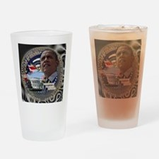 Obama Re-elected Drinking Glass