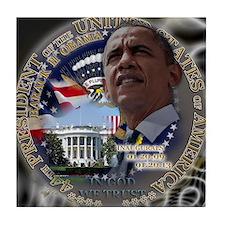 Obama Re-elected Tile Coaster