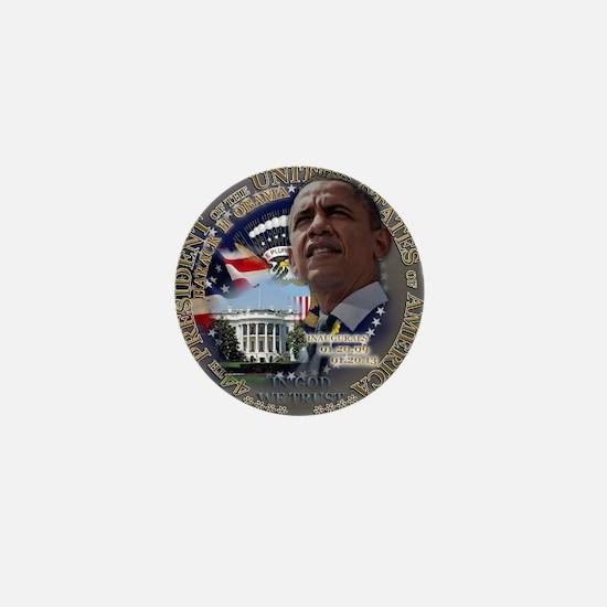 Obama Re-elected Mini Button