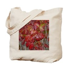 Red Poison Oak Leaves Tote Bag