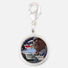 Obama Re-elected Silver Round Charm
