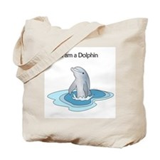 I am a Dolphin Tote Bag