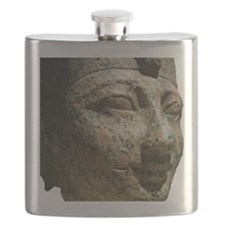 A Egyptian Face in Granite Flask