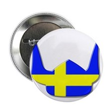 "Sweden Swedish Helmet Flag Design 2.25"" Button"