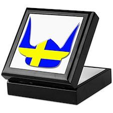 Sweden Swedish Helmet Flag Design Keepsake Box