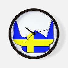 Sweden Swedish Helmet Flag Design Wall Clock