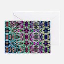 Rainbow Fractal Art Pattern Greeting Card