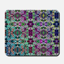 Rainbow Fractal Art Pattern Mousepad