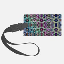 Rainbow Fractal Art Pattern Luggage Tag