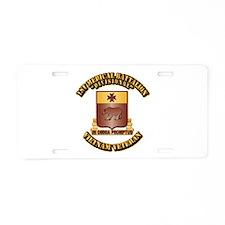 Army - 1st Medical Battalion Aluminum License Plat