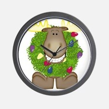 Merry Christmoose Wall Clock