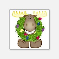 "Merry Christmoose Square Sticker 3"" x 3"""
