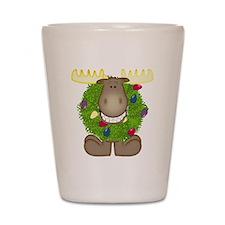 Merry Christmoose Shot Glass