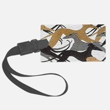 Art Deco Hounds Luggage Tag