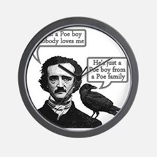 Edgar Allan Poe Riffs On Queen's Bohemi Wall Clock