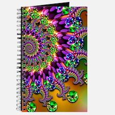Green and Purple Bokeh Fractal Pattern Journal