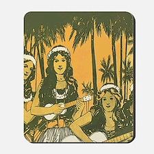 Hawaiian Ukelele Girls Mousepad