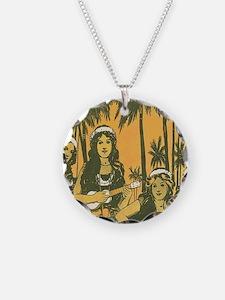 Hawaiian Ukelele Girls Necklace